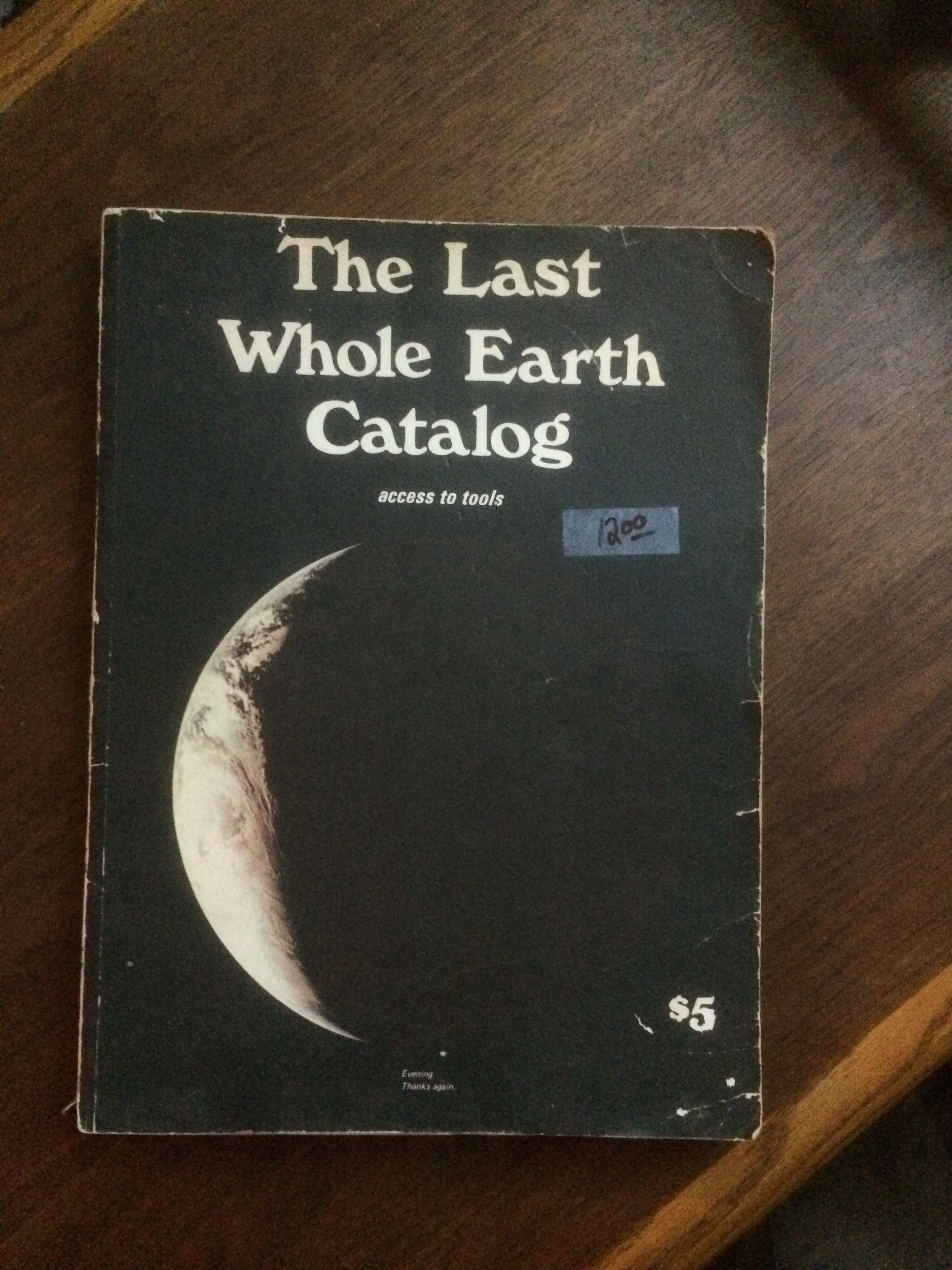 The Last Whole Earth Catalog on my coffe table